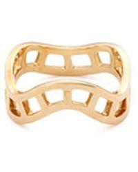Sophie Bille Brahe - 'la Échelle' 18k Yellow Gold Cutout Wavy Ring - Lyst
