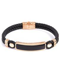 John Hardy - 'classic Chain' Onyx Bronze Silver Bracelet - Lyst