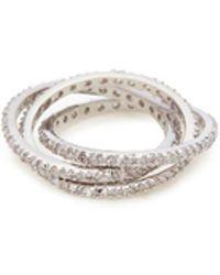 CZ by Kenneth Jay Lane - Cubic Zirconia Interlocking Ring - Lyst