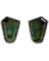 Monique Péan - 'atelier' Emerald Diamond 18k Recycled White Gold Earrings - Lyst
