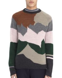 Lanvin - Intarsia-knit Wool And Cashmere-blend Sweater - Lyst