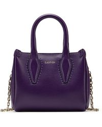 "Lanvin - Micro Dark Purple ""journee"" Bag - Lyst"