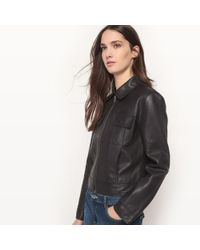 La Redoute - Leather Zip-up Jacket - Lyst