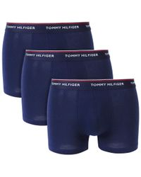 Tommy Hilfiger - Stretch Trunks In 3 Pack - Lyst
