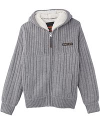Schott Nyc - Pl Duncan Hooded Sherpa-lined Zip-up Cardigan - Lyst