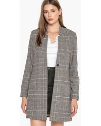Best Mountain - Straight Checked Coat - Lyst