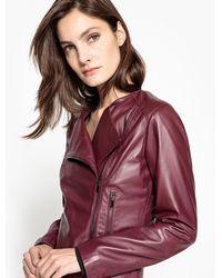 La Redoute - Leather Biker Jacket - Lyst