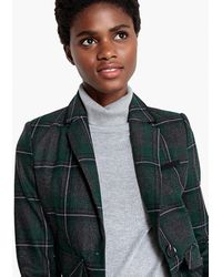 La Redoute - Checked Wool Blend Blazer - Lyst