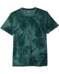 La Redoute - Leaf Print Crew Neck T-shirt - Lyst