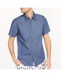 La Redoute - Straight Cut Denim Shirt - Lyst