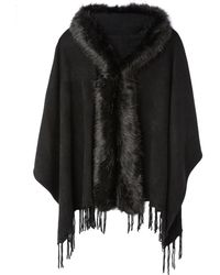 La Redoute - Scarf With Faux Fur Trim - Lyst