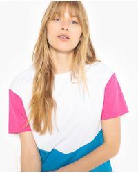 La Redoute - Colourblock Cotton T-shirt - Lyst