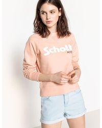 Schott Nyc - Printed Sweatshirt - Lyst