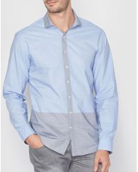 La Redoute - Slim Fit Two-tone Shirt - Lyst