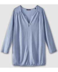 Marc O'polo - Long-sleeved V-neck Blouse With Buttons - Lyst