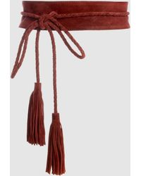 La Redoute - Tie Belt With Tassels And Fringing - Lyst