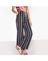 Suncoo - Jacquot Striped Wide Leg Trousers - Lyst