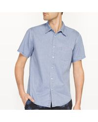 La Redoute - Straight Cut Denim Shirt - Lyst