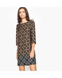 La Redoute - Geometric Print Shift Dress - Lyst