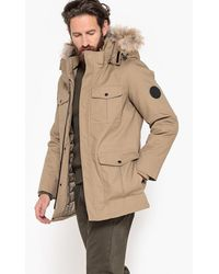 La Redoute - Water Repellent Hooded Parka With Faux Fur - Lyst