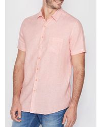 La Redoute - Short-sleeved Regular Fit Linen Shirt - Lyst