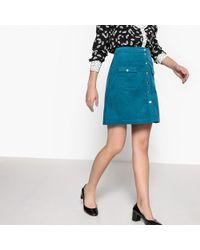 LA REDOUTE   Velvet Buttoned Skirt   Lyst