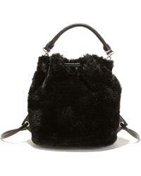 La Redoute - Faux Fur Handbag/backpack - Lyst