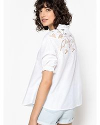 La Redoute - Embroidered Blouse With Ruffled Collar - Lyst