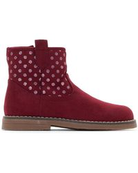La Redoute - Zip-up Ankle Boots With Polka Dot Detail, Sizes 21-34 - Lyst