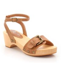 La Redoute - Clogs With Buckled Ankle Strap - Lyst