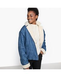 La Redoute - Denim Jacket With Sheepskin Lining - Lyst