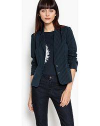 La Redoute - Striped Short Blazer - Lyst