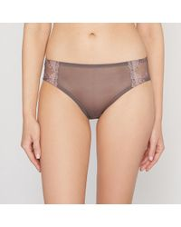 La Redoute - Embroidered Tulle Briefs - Lyst