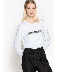 La Redoute - Long-sleeved Feminist Print T-shirt - Lyst