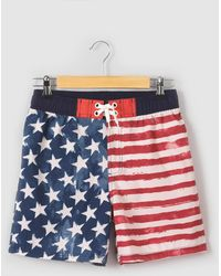La Redoute - Usa Flag Print Swimshorts, 10-16 Years - Lyst