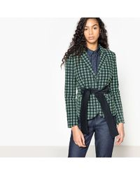 La Redoute - Checked Jacquard Jacket - Lyst