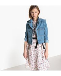 La Redoute - Fitted Cropped Denim Jacket - Lyst