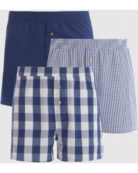 La Redoute - Pack Of 3 Cotton Boxer Shorts With Button Fastening - Lyst