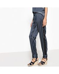 "La Redoute - Tie Waist Striped Pyjama Trousers, Length 29"" - Lyst"