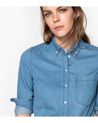 e65780acc6 Lyst - La Redoute Printed Mandarin Collar Shirt