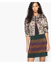 La Redoute - Printed Padded Jacket With Batwing Sleeves - Lyst