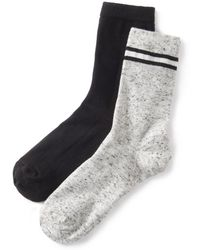 La Redoute - Pack Of 2 Pairs Of Fashion Crew Socks - Lyst