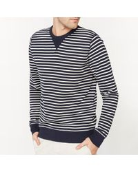 La Redoute - Crew Neck Striped Sweatshirt - Lyst