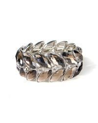 La Redoute - Metal And Crystal Bracelet - Lyst