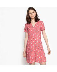 Best Mountain - Short Floral Print Skater Dress - Lyst