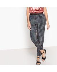 Suncoo - Janice Printed Straight Trousers - Lyst