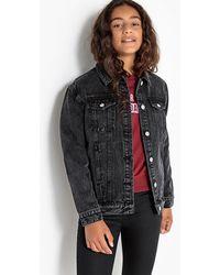 La Redoute - Fuller Fit Black Denim Jacket, 10-16 Years - Lyst