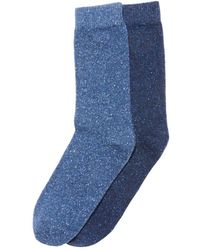 La Redoute - Pack Of 2 Pairs Of Silk And Wool Socks - Lyst