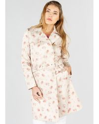Rene' Derhy - Floral Print Trenchcoat - Lyst