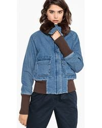 La Redoute - Denim Jacket With Faux Fur Collar - Lyst
